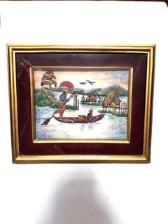Crystal Gemstones Scenery Picture Frame