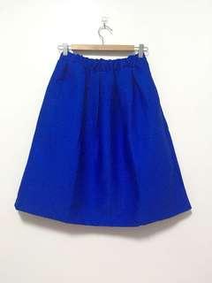 🚚 寶藍色圓裙