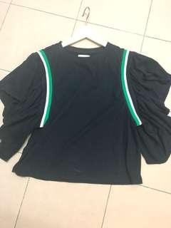 Padini Authentic ruffles navy top . New . Never wore.