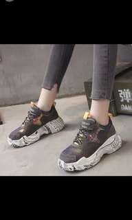 韓款潮流印花鞋