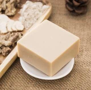 手工皂洗面皂潔面皂天然七子白皂冷制皂香皂 100g 滋潤提亮肌膚