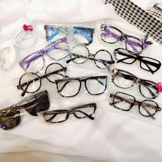🚚 [set of 12] sunglasses and decorative fashion glasses (hello kitty, rabbit, pixel, round frame etc  )