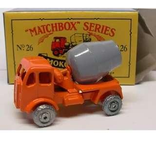 Matchbox 26 Cement Truck reissue