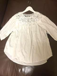 Somerset Bay white lace top . Size 3 . Wore only once , excellent condition like new.