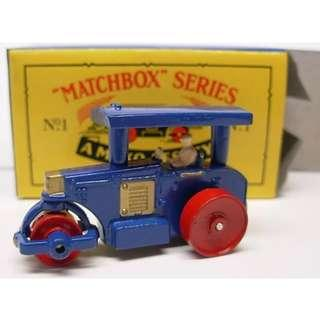 Matchbox 1 Road Roller reissue