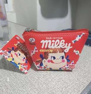 🚚 日本不二家peko牛奶妹零錢包、收納包、可愛