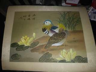 菊花。16×20寸。