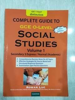 Sec 3 Social Studies Reference book