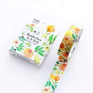 🚚 [PO] blooming floral washi tape