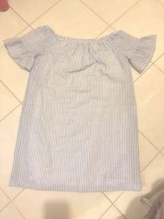 Padini Authentic stripes Off Shoulder dress . New. Never wore . Measurement shownin the pictures .