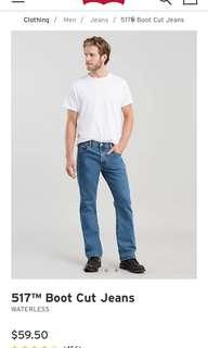 🚚 二手出清*男 Levi's 517 藍丹寧 牛仔褲