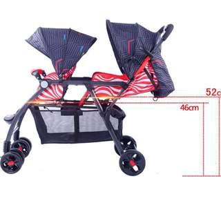 Offer !! Christmas promotion !! End year sales baby twin stroller pram double stroller wagon push cart tandem stroller baby trend chicco lucky baby graco