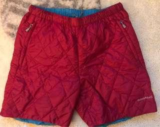 Montbell reversible cold gear shorts - women size M