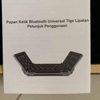 Papan ketik Bluetooth 3 lipat (portable)