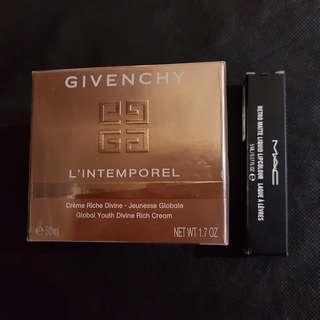 Givenchy L'intemporel Global Youth Divine Rich Cream 1.7 oz 50ml with FREE  Mac liquid lipstick