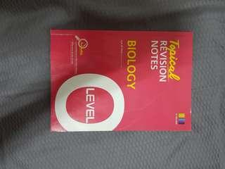 🚚 O Level Pure Bio Topical Revision Notes Booklet