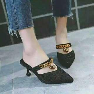 Heels black impor