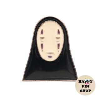 🚚 [AVAIL @ Cine] No-Face (Kaonashi) Faceless Enamel Pin - Spirited Away - Studio Ghibli - Hayao Miyazaki
