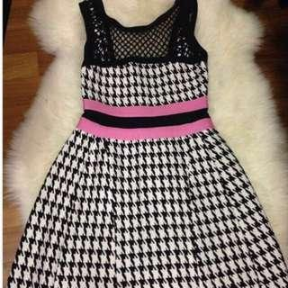 Herve Leger Inspired Bandage Houndstooth Dress