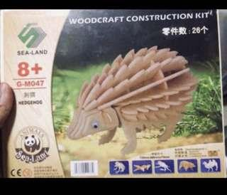 刺蝟木製模型(hedgehog wooden model) 🦔✨全新📮包郵