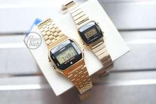 Authentic Casio A159WGED-1 and LA670WAD-1 Pair