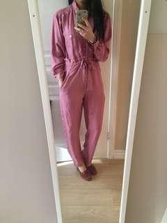 Luxury 100% silk jumpsuit