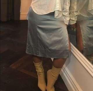 Forever 21 Grey Satin Silk Skirt