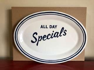 """Kate Spade New York All in Good Taste """"All Day Specials"""" Platter by Lenox Brand New"""