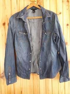 H&M Jean Long Sleeve Button Down Shirt
