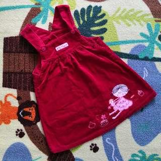 Baby Togs Red Curdoroy Overalls (24M)