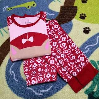 Caluby Fox Red PJ Set (Size 90)