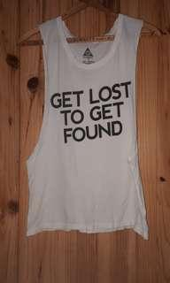 White Element Tank - Open Sides Shirt - Get Lost To Get Found