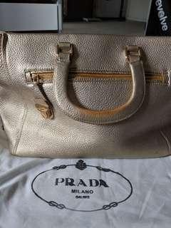 Prada top handle handbag
