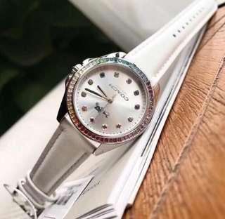 Coach Genuine White Leather Ladies Watch