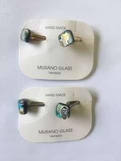 Italian Murano Glass cuff links
