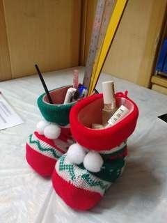 聖誕襪1對,不包括文具