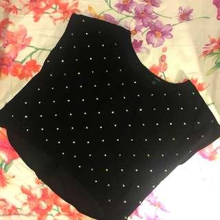 FOREVER 21 CHIFFON CROP TOP