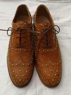 CHURCH'S Studded Leather Brogues in Tan
