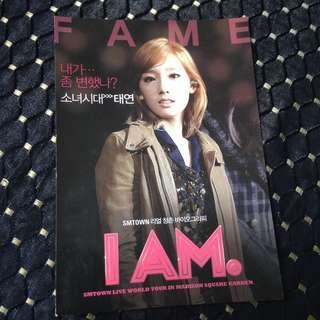 [OFFICIAL] Taeyeon I.AM Smtown World Tour Postcard