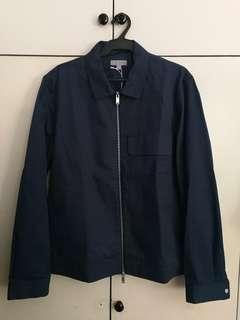 [HOLIDAY SALE] COS Navy Blue Zip-front  Cotton Jacket