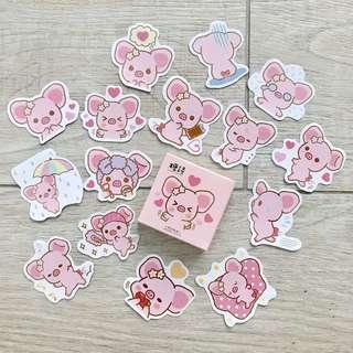 pig bujo stickers -45pc (A6)