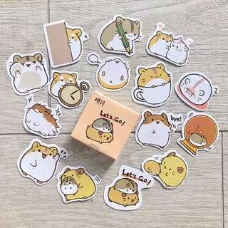 hamster bujo stickers -45pc (A5)