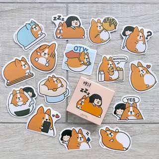 corgi bujo stickers - 45pc (A2)