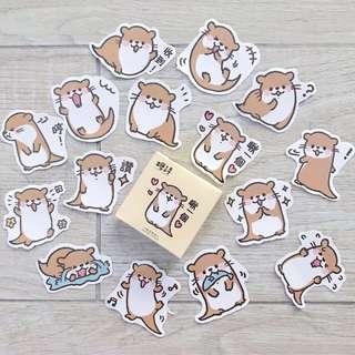 otter bujo stickers - 45pc (A1)