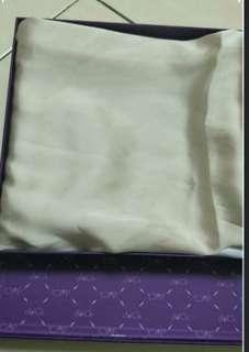 Duck Satin silk square scarf