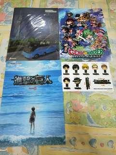 AFA anime folders and sticker set