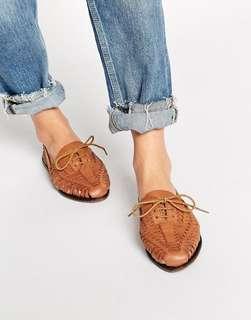 Asos brown leather Tan shoes eur 38 uk 5