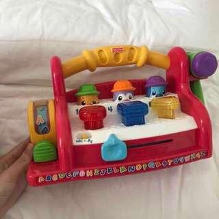 Retail price $60 Fisher price fisherprice laugh and learn learning toolbench abc alphabet musical toy