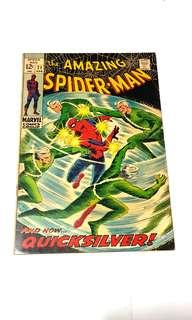 AMAZING SPIDER-MAN (VOL 1) 71 vs Quicksilver