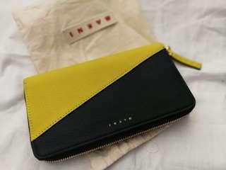 MARNI Two Tone Large Zip-Around Leather Wallet